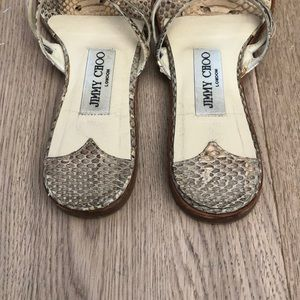Jimmy Choo Shoes - Jimmy Choo Python print sandals